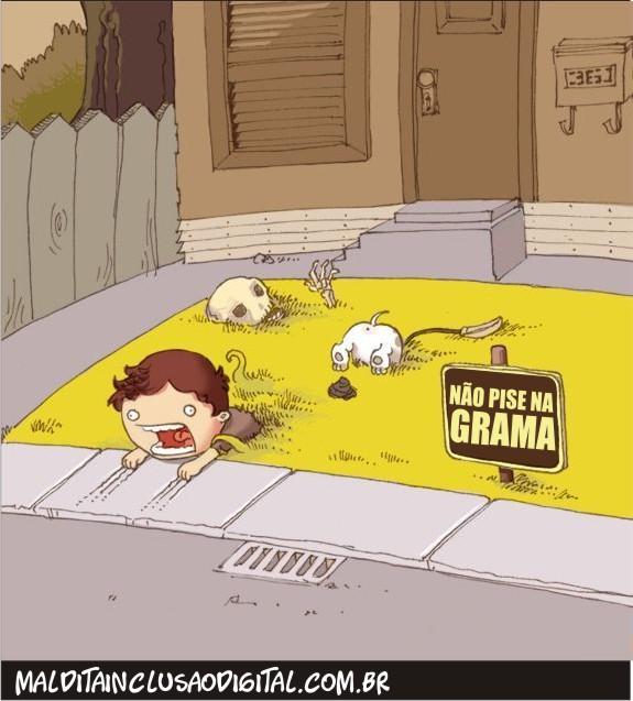 Não pise na grama